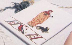 Mittelalter Stickkurs Beispiel 2