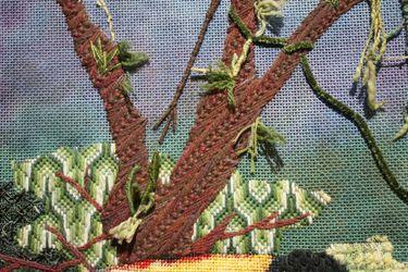 Gezählte Stickerei - Kreatives Sticken Beispiel 2